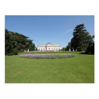 Cartão Postal Schloss Benrath - vista do parque