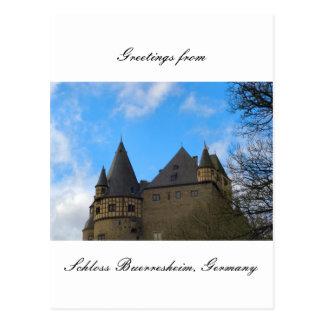 Cartão Postal Schloss Buerresheim, castelo Buerresheim