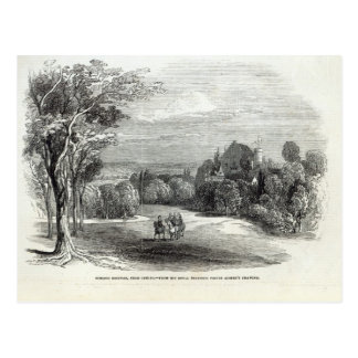 Cartão Postal Schloss Rosenau, perto de Coburg