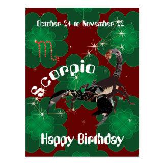 Cartão Postal Scorpio October 24 to novembros de 22 Postcard