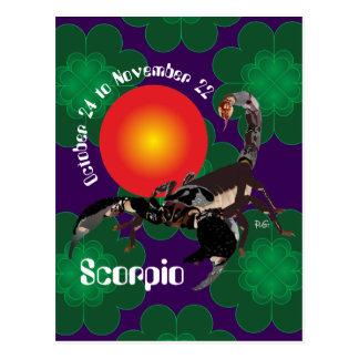 Cartão Postal Scorpio October 24 to novembros de 22 Postcards
