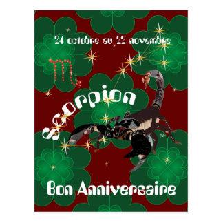 Cartão Postal Scorpion 24 22 Cartes octobre au novembre postales
