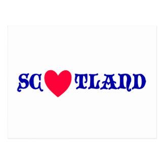 Cartão Postal Scotland love
