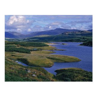 Cartão Postal Scotland, montanhas, Wester Ross, Loch Garry.