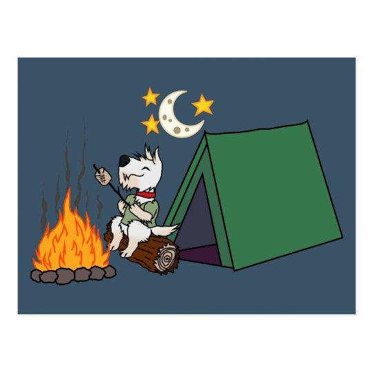 Cartão Postal Scottie de acampamento - Wheaten