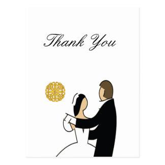 Cartão Postal Scottish e tema celta do casamento do casal