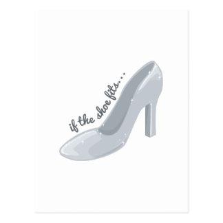 Cartão Postal Se ajustados dos calçados
