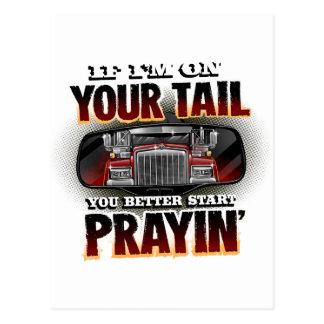 Cartão Postal Se eu estou em sua camisa do camionista da CAUDA
