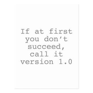 Cartão Postal Se início em você não suceda, chame-o a versão 1,0