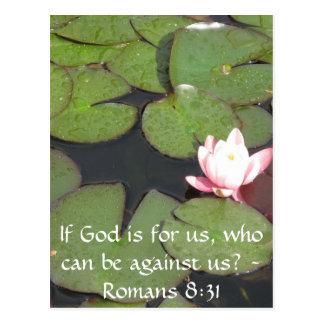Cartão Postal Se o deus é para nós que podem ser contra nós 8:31
