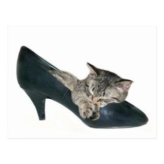 Cartão Postal Se os ajustados dos calçados