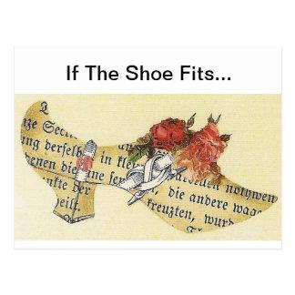 Cartão Postal Se os ajustados dos calçados… Deslizador de