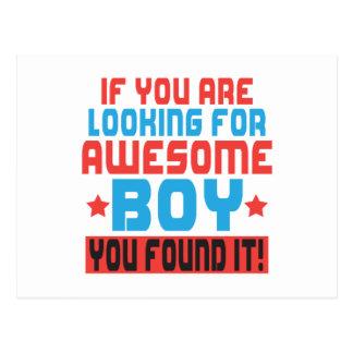 Cartão Postal Se você está procurando o menino impressionante,