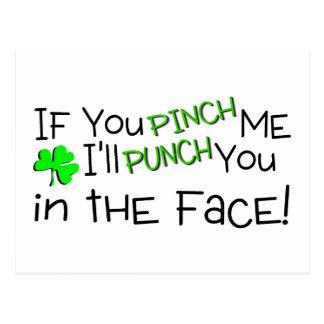 Cartão Postal Se você me comprime doente perfure-o no irlandês