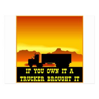 Cartão Postal Se você o possui um camionista trouxe-lhe #0022