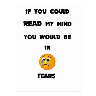 Cartão Postal se você poderia ler minha mente você estaria em