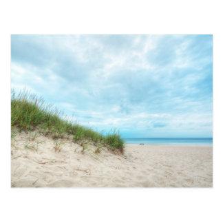 Cartão Postal Seascape da paisagem do Lago Michigan da praia