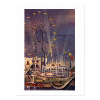 Cartão Postal Seattle, poster da feira de mundo Washington1962