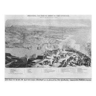 Cartão Postal Sebastopol do forte Constantin