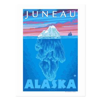 Cartão Postal Secção transversal do iceberg - Juneau, Alaska