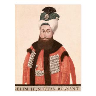 Cartão Postal Século de Selim III da sultão 18o-19o