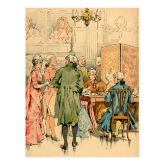 Cartão Postal Século XVIII socializando