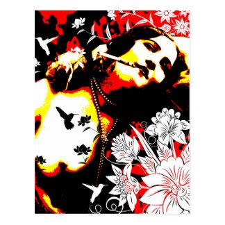 Cartão Postal Sedução nostálgica - colibri pernicioso