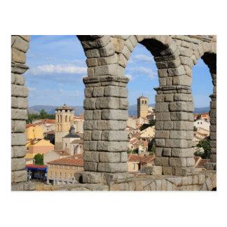 Cartão Postal Segovia, espanha é um local do património mundial