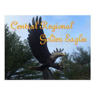 Cartão Postal Segundo grau regional central de Eagles dourado