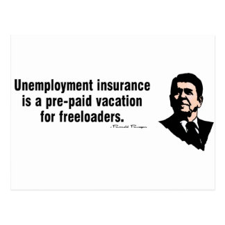 Cartão Postal Seguro de desemprego