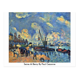 Cartão Postal Seine em Bercy por Paul Cezanne