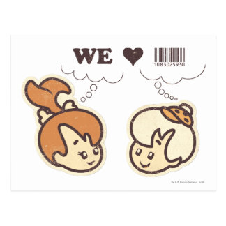 Cartão Postal Seixos e Bam Bam que nós amamos