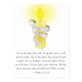 Cartão Postal Seja a luz