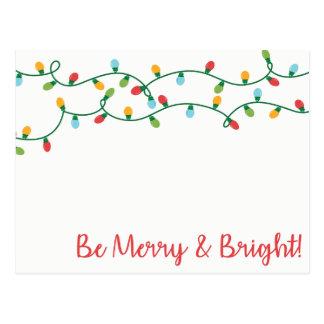 Cartão Postal Seja alegre e brilhante!