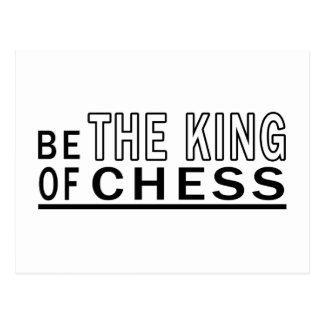 Cartão Postal Seja do rei Xadrez