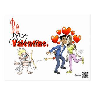 Cartão Postal Seja meu Valentine.