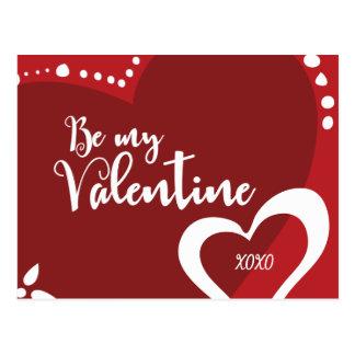 Cartão Postal Seja meus namorados, corações, vermelho,
