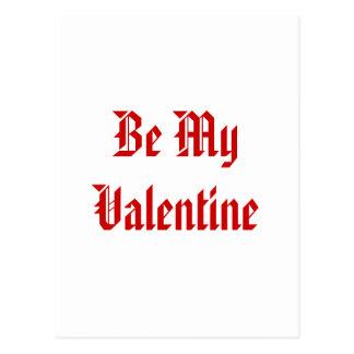 Cartão Postal Seja meus namorados. Dia dos namorados. Vermelho e