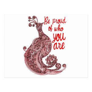 Cartão Postal Seja orgulhoso de quem você é