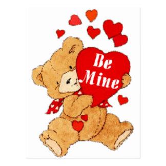 Cartão Postal Seja ursinho dos namorados da mina