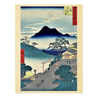 Cartão Postal Seki por Ando, Hiroshige Ukiyoe