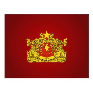 Cartão Postal Selo Burmese do estado (de Myanma)