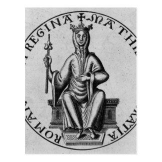 Cartão Postal Selo da imperatriz Matilda