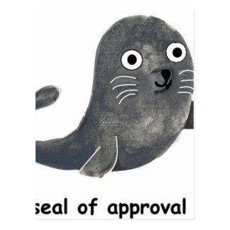 Cartão Postal Selo de aprovação