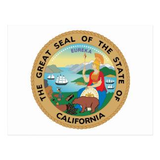 Cartão Postal Selo de Califórnia