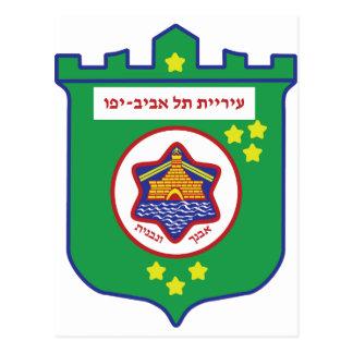 Cartão Postal Selo de Tel Aviv - símbolo - logotipo