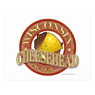 Cartão Postal Selo de Wisconsin Cheesehead