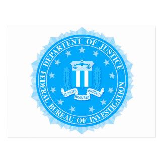Cartão Postal Selo do FBI no azul