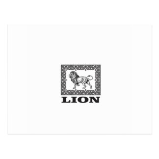 Cartão Postal selo do leão
