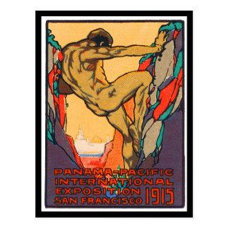 Cartão Postal Selo do poster que abre o PPIE, 1915